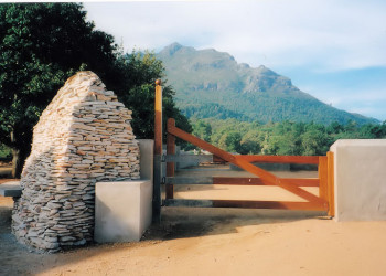 wooden farm gate
